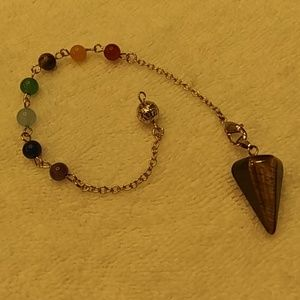 Jewelry - Natural stone tiger eye pendulum